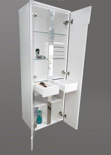 Słupek łazienkowy Oristo Silver Dwudrzwiowy 50 Biały Or33 Sb2d 50 1