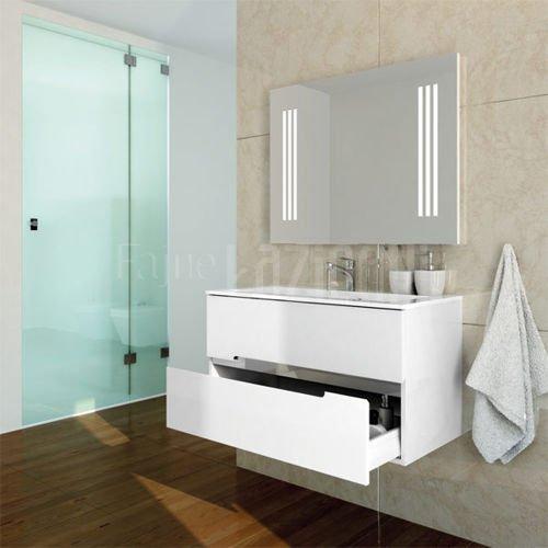 Szafka łazienkowa Oristo Silver Or33 Sd 90 1 Biały Połysk Z Umywalką