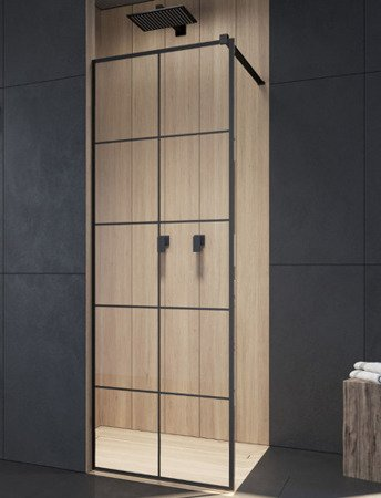 Kabina prysznicowa Radaway Modo New Black II Factory 80 walk-in 389084-54-55